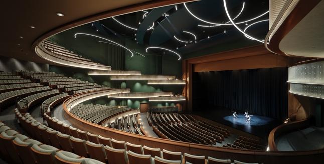 Hancher Auditorium rendering